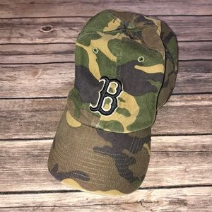 Camo Red Sox Hat